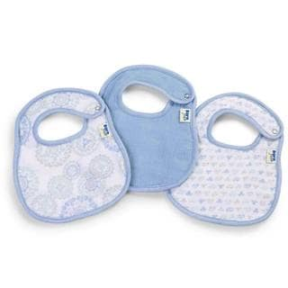 Born Free 'Deco Circle' Muslin and Terry Bibs (Pack of 3)