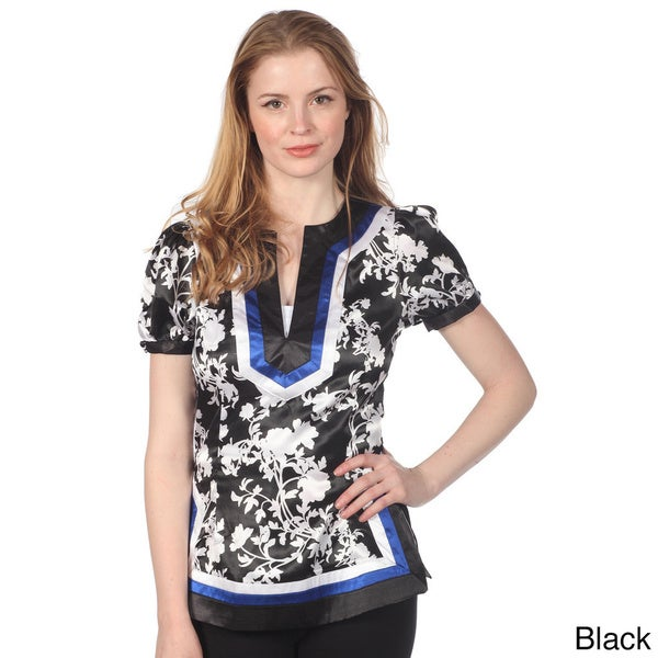 Cotton Express Satin Printed Top