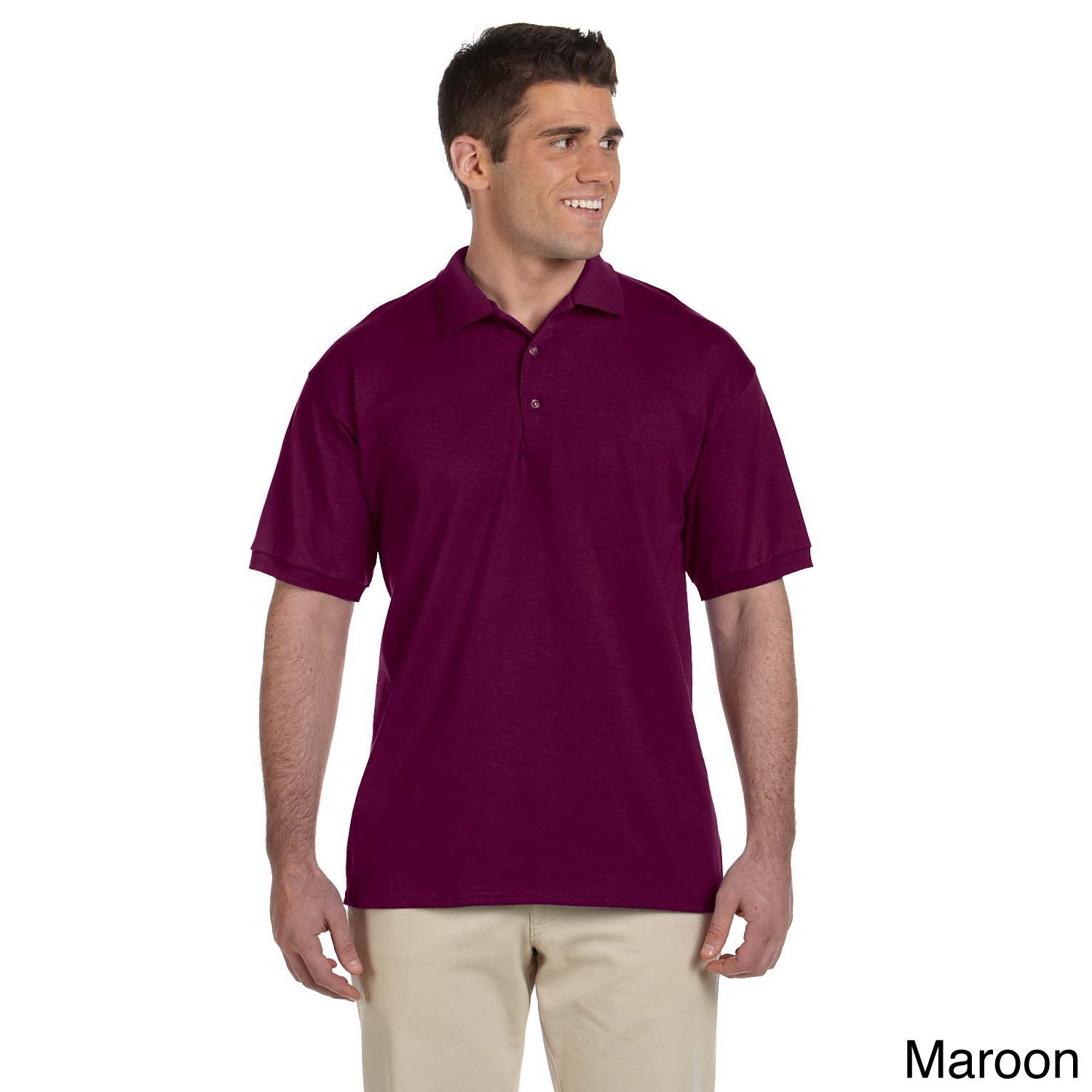Gildan Gildan Mens Ultra Cotton Jersey Polo Shirt Brown Size L