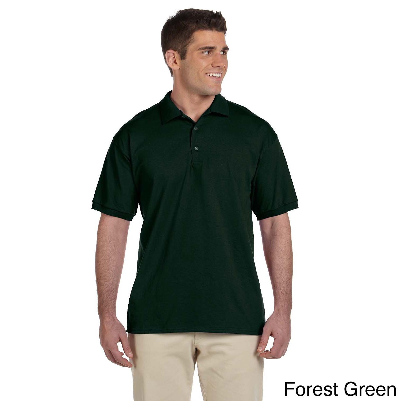 Gildan Gildan Mens Ultra Cotton Jersey Polo Shirt Green Size XXL