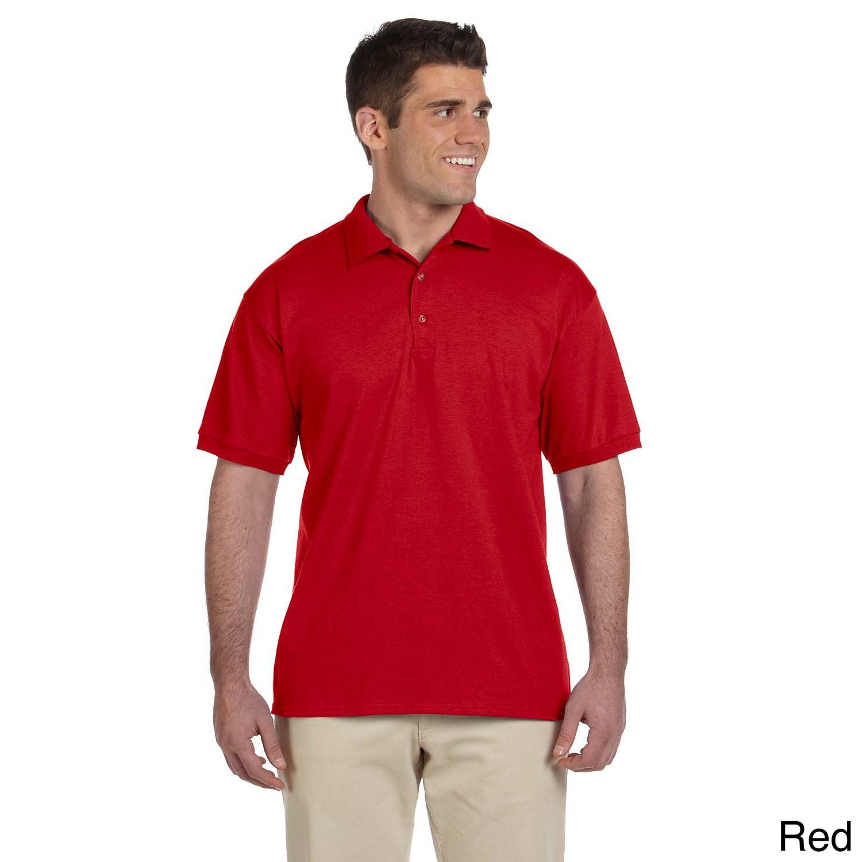 Gildan Gildan Mens Ultra Cotton Jersey Polo Shirt Red Size XXL