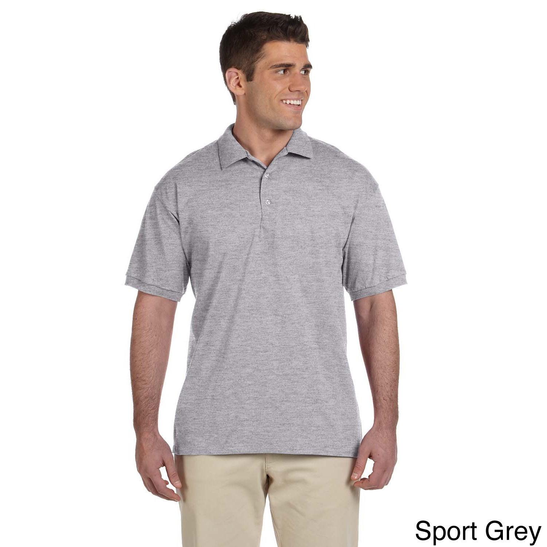 Gildan Gildan Mens Ultra Cotton Jersey Polo Shirt Grey Size XXL