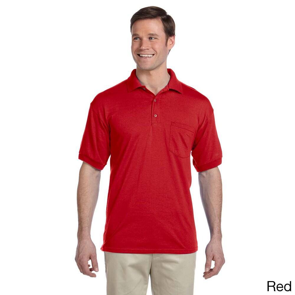 Gildan Gildan Mens Dry Blend Jersey Polo Shirt Red Size XXL