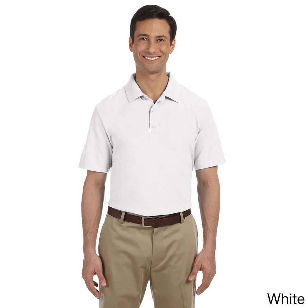 Gildan Mens Dry Blend Pique Sport Shirt White Size XXL
