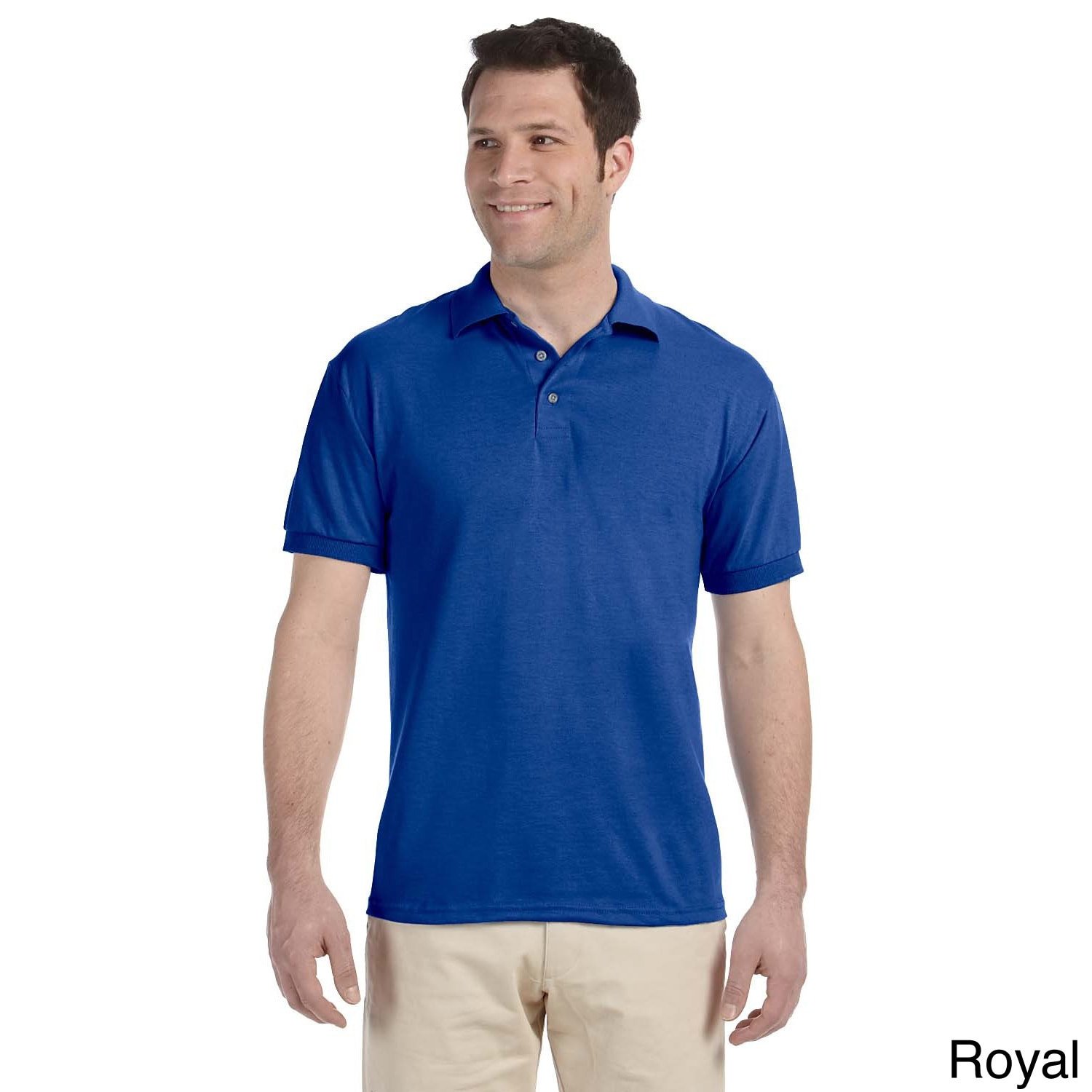 Jerzees Mens Heavyweight Blend Jersey Polo Shirt Blue Size XXL