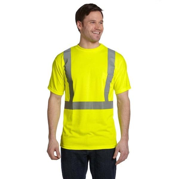 Men's Birdseye Wicking Yellow T-shirt