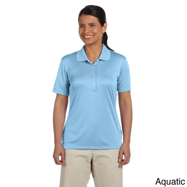 Women's Solid Performance Interlock Polo Shirt 12890641