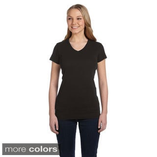 Women's Baby Rib V-neck Shirt