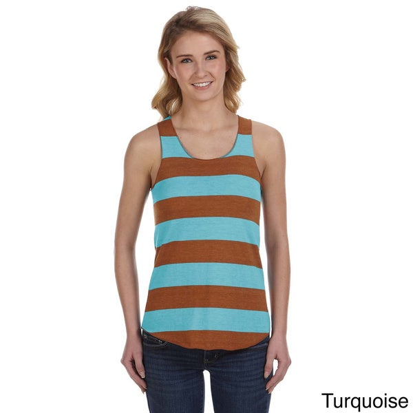 Women's Meegs Ugly Stripe Racer Tank