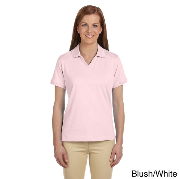 Ladies' 5.9 oz. Cotton Jersey Short-Sleeve Polo with Tipping