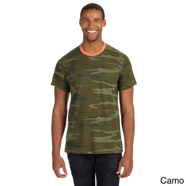 Men's Printed Short-sleeve Crew Neck T-shirt