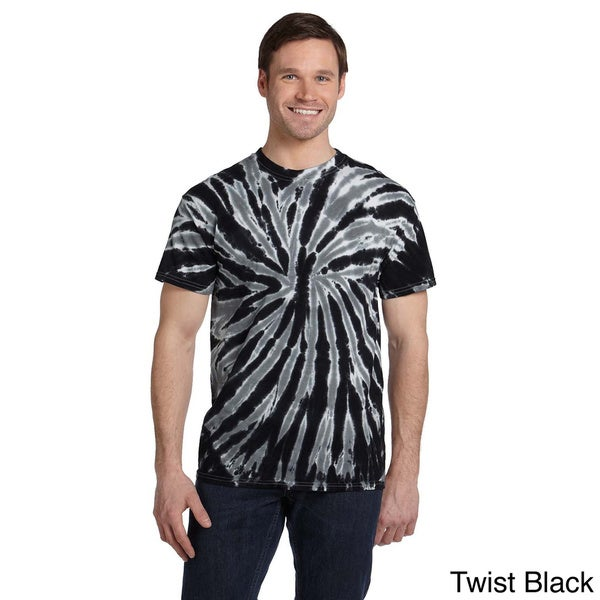 Men's Twist Tie-dyed Short-sleeve Cotton T-shirt