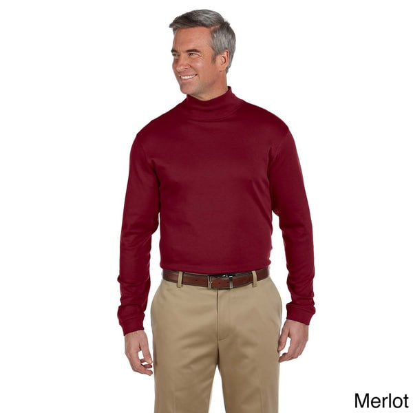Men's Pima Cotton Long-sleeve Mock Neck