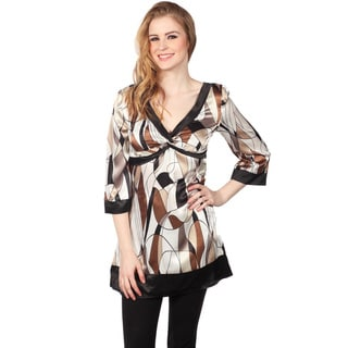 Cotton Express Long Sleeve Pucci Print Top