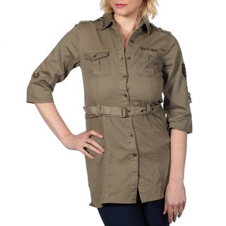 Cotton Express Convertible Sleeve Shirt Dress