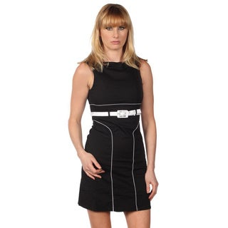 Cotton Express Sleeveless Dress With Waist Belt