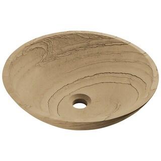 Polaris Sinks P258 Wood Sandstone Vessel Stone Sink