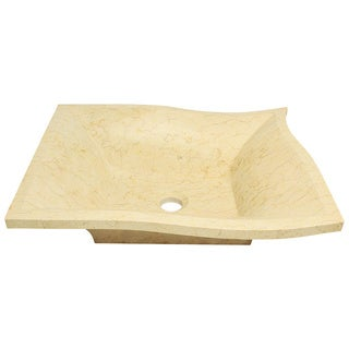 Polaris Sinks P958 Egyptian Yellow Marble Vessel Sink
