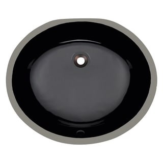 Polaris Sinks PUPMBL Black Porcelain Bathroom Sink