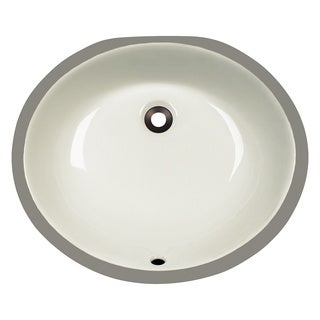 Polaris Sinks PUPMB Bisque Porcelain Bathroom Sink