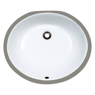 Polaris Sinks PUPMW White Porcelain Bathroom Sink