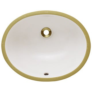 Polaris Sinks PUPSB Bisque Porcelain Bathroom Sink