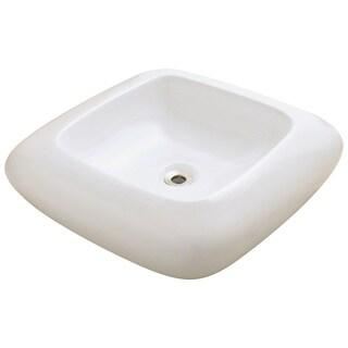 Polaris Sinks P001VB Bisque Pillow Top Porcelain Vessel Sink