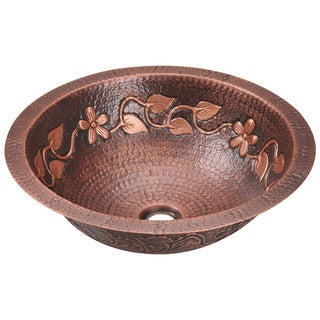 Polaris Sinks P329 Single Bowl Copper Bathroom Sink