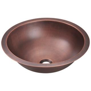 Polaris Sinks P229 Single Bowl Copper Bathroom Sink