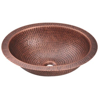 Polaris Sinks P909 Single Bowl Oval Copper Sink