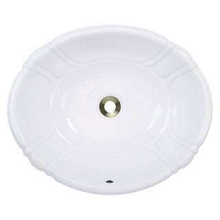 Polaris Sinks P5181OW White Porcelain Vessel / Drop-In Bathroom Vanity Sink