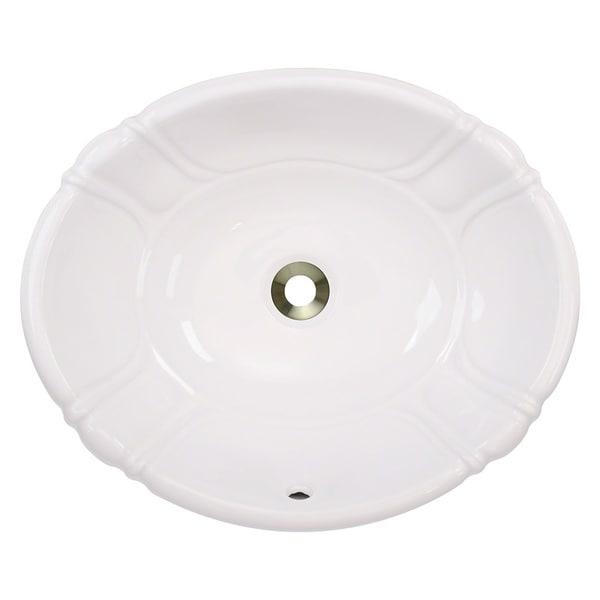 Polaris Sinks P8102OW White Overmount Bathroom Sink