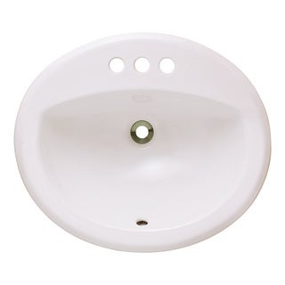 Polaris Sinks P8102OB Bisque Overmount Bathroom Sink