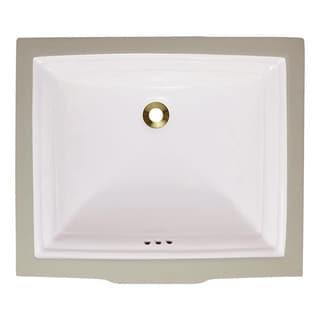Polaris Sinks P0542UB Bisque Undermount Rectangular Porcelain Sink
