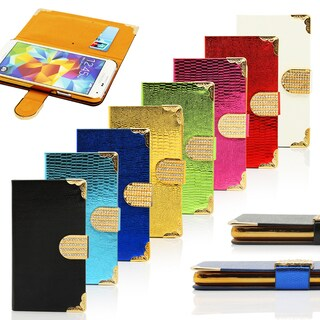 Gearonic Luxury Bling Wallet Flip Cover Case for Samsung Galaxy S5 SV i9600