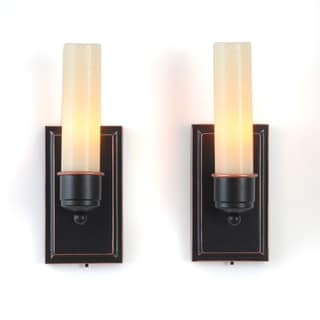 CandleTEK Wall Sconces with Flameless Candles (Set of 2)
