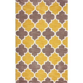 nuLOOM Hand-tufted Trellis Synthetics Gold Rug (8'6 x 11'6)