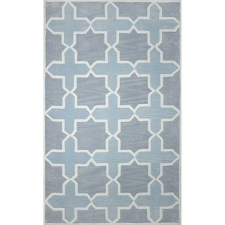 nuLOOM Hand-tufted Trellis Synthetics Grey Rug (8'6 x 11'6)