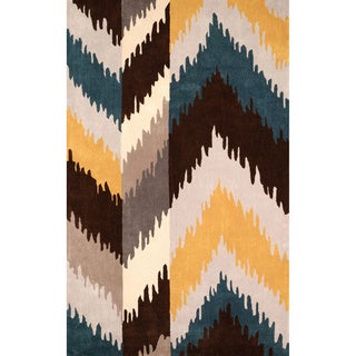 nuLOOM Hand-tufted Ikat Gold Rug (8'6 x 11'6)