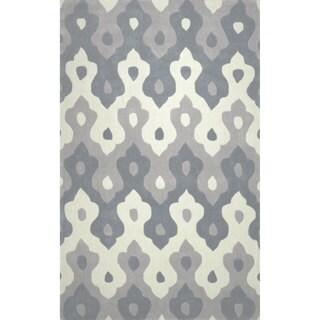 nuLOOM Hand-tufted Synthetics Grey Rug (8'6 x 11'6)