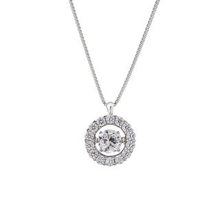 Auriya 14k White Gold 2/5ct TDW 'Dancing Stone' Diamond Necklace (G-H, I1-I2)