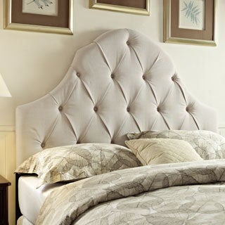 Tufted Ivory King/California King Size Upholstered Headboard
