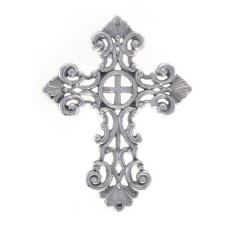Handcrafted Decorative Aluminum Wall Cross (India)