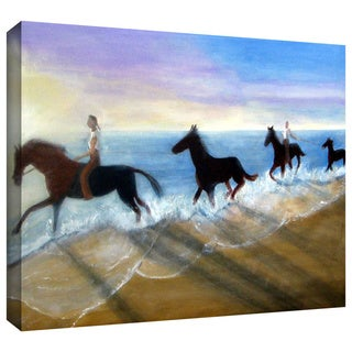 Lindsey Janich 'Horses on the Beach Painting' Gallery-Wrapped Canvas