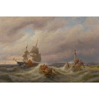 Fighting Storm' Oil on Canvas Art