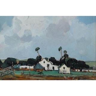 Pieter Willem Frederick Wenning 'The White Farmhouse' Oil on Canvas Art