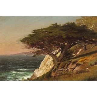 Raymond Dabb Yelland 'Cypress Tree, Carmel Bay' Oil on Canvas Art