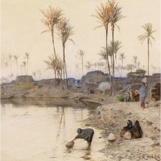 Charles Wilda 'The Oasis' Oil on Canvas Art