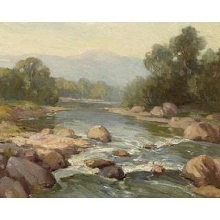 Mountain Stream' Oil on Canvas Art