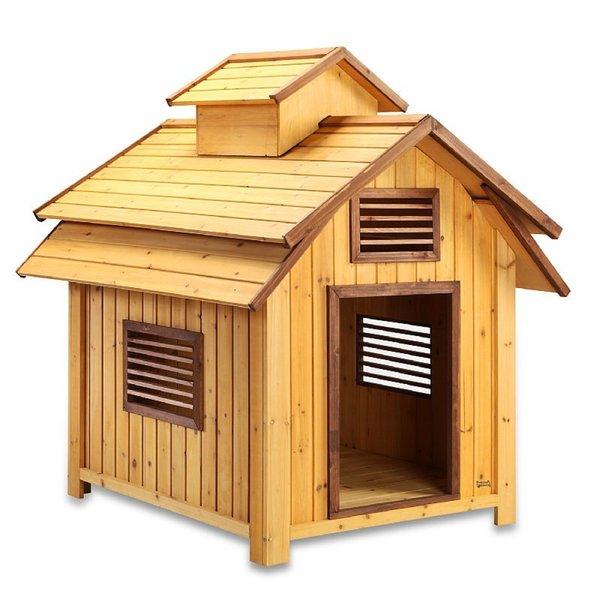 Pet Squeak Bird Dog Raised Wooden Dog House